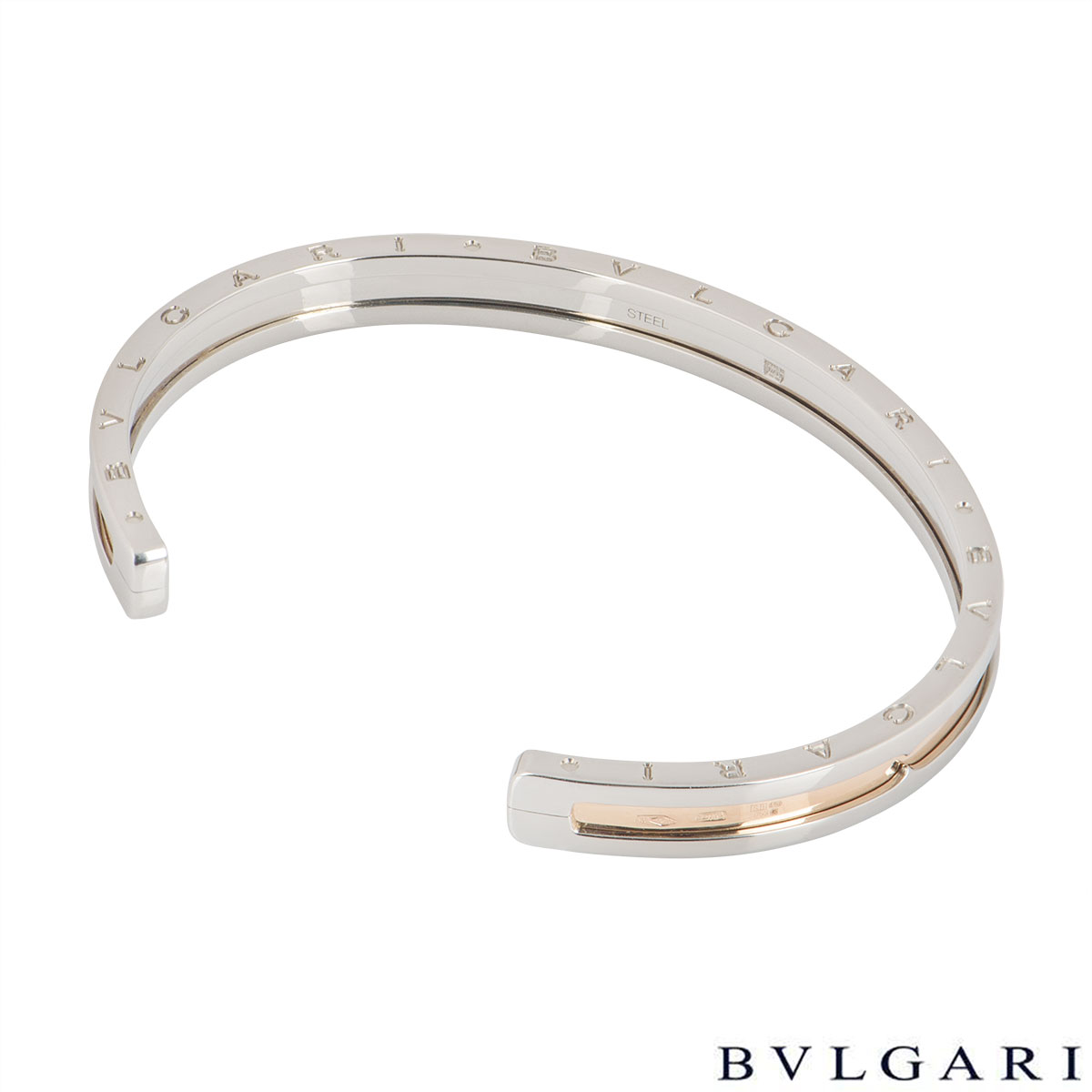 Bvlgari Steel & Yellow Gold B.Zero1 Bracelet 345575